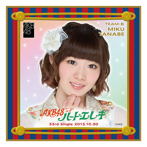 AKB48 ハート・エレキ 推しタオル 田名部生来