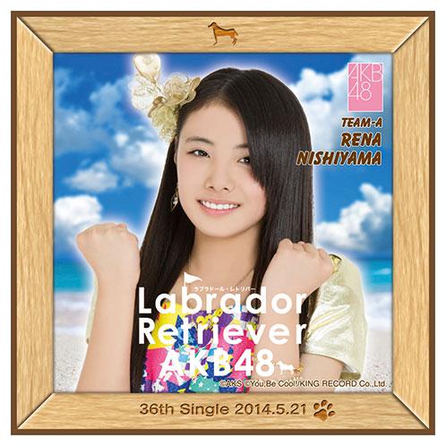 AKB48 ラブラドール・レトリバー推しタオル 西山 怜那