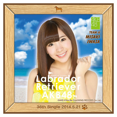 AKB48 ラブラドール・レトリバー推しタオル 岩佐 美咲