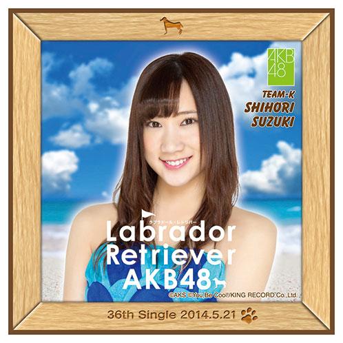 AKB48 ラブラドール・レトリバー推しタオル 鈴木 紫帆里