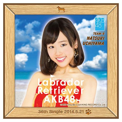 AKB48 ラブラドール・レトリバー推しタオル 内山 奈月