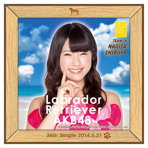 AKB48 ラブラドール・レトリバー推しタオル 渋谷 凪咲