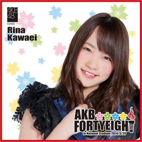 AKB48 国立競技場〜思い出は全部ここに捨てていけ!〜AKB48 推しタオル川栄 李奈