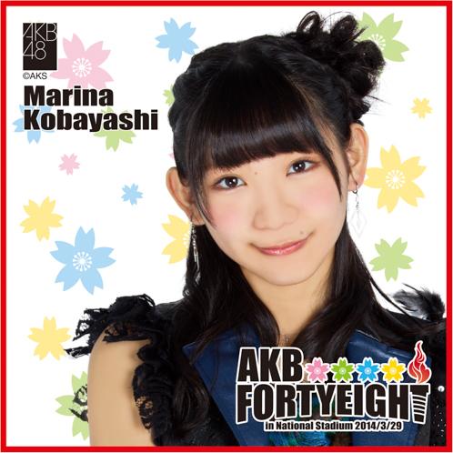 AKB48 国立競技場〜思い出は全部ここに捨てていけ!〜AKB48 推しタオル小林 茉里奈