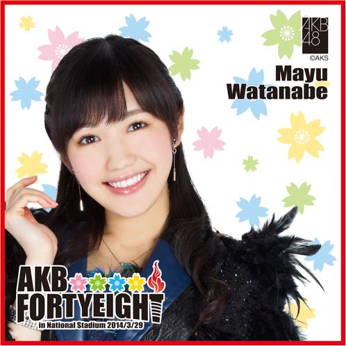 AKB48 国立競技場〜思い出は全部ここに捨てていけ!〜AKB48 推しタオル渡辺 麻友