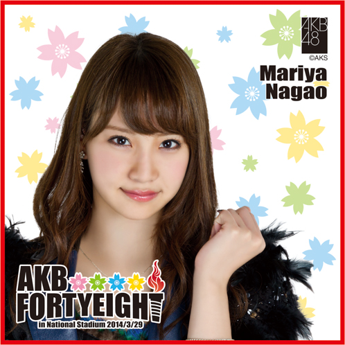 AKB48 国立競技場〜思い出は全部ここに捨てていけ!〜AKB48 推しタオル永尾 まりや