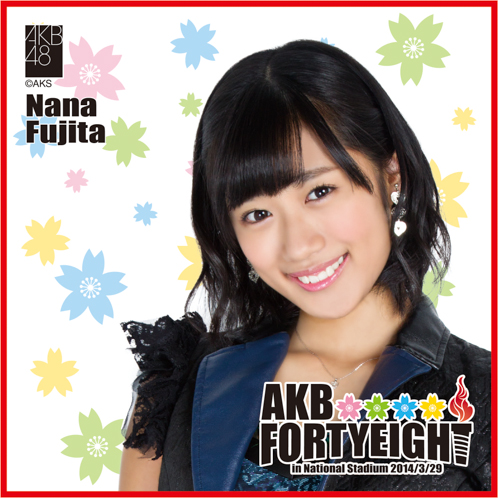 AKB48 国立競技場~思い出は全部ここに捨てていけ!~AKB48 推しタオル藤田 奈那