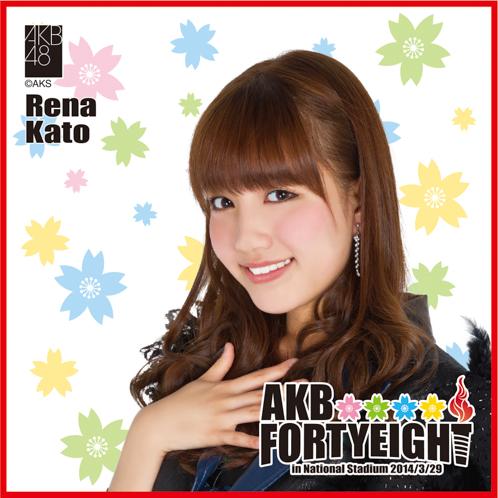 AKB48 国立競技場~思い出は全部ここに捨てていけ!~AKB48 推しタオル加藤 玲奈