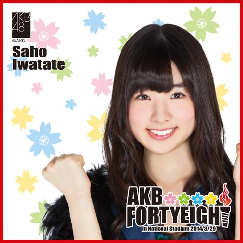 AKB48 国立競技場〜思い出は全部ここに捨てていけ!〜AKB48 推しタオル岩立 沙穂