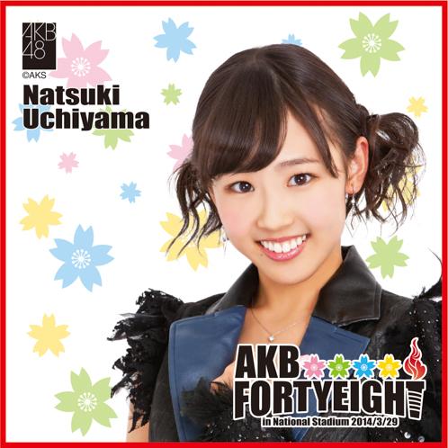AKB48 国立競技場〜思い出は全部ここに捨てていけ!〜AKB48 推しタオル内山 奈月