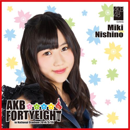 AKB48 国立競技場〜思い出は全部ここに捨てていけ!〜AKB48 推しタオル西野 未姫
