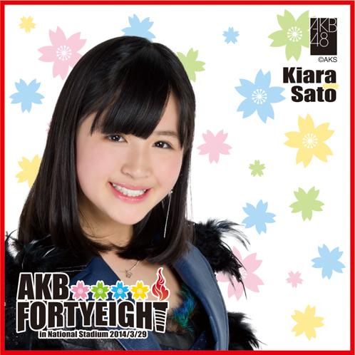 AKB48 国立競技場〜思い出は全部ここに捨てていけ!〜AKB48 推しタオル佐藤 妃星