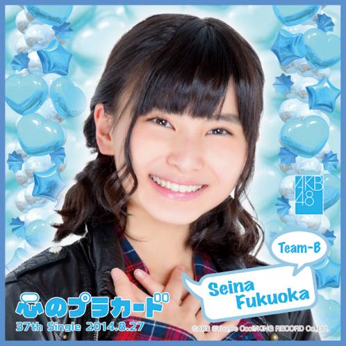 AKB48 心のプラカード推しタオル福岡 聖菜