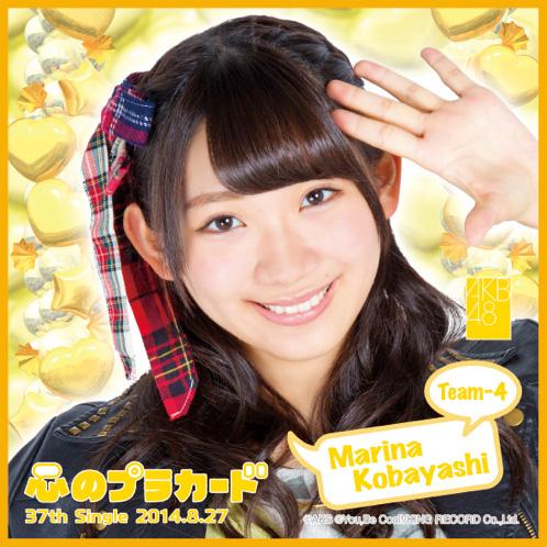AKB48 心のプラカード推しタオル小林 茉里奈