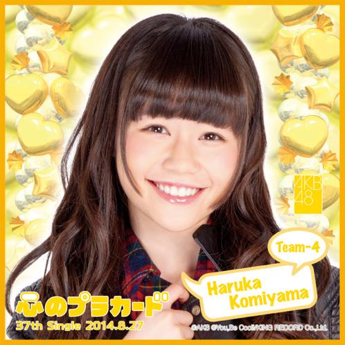 AKB48 心のプラカード推しタオル込山 榛香