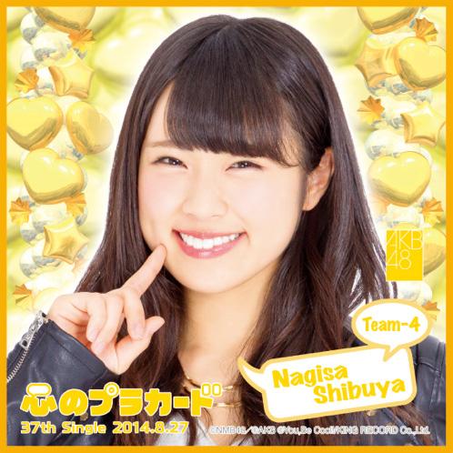 AKB48 心のプラカード推しタオル渋谷 凪咲