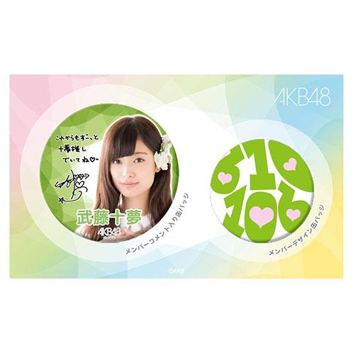 AKB48 メンバーデザイン推し缶バッジセット 武藤十夢