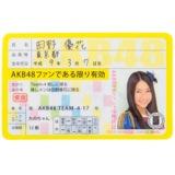 AKB48 推し免許証 田野優花