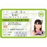 AKB48 推し免許証3 小嶋 真子