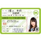 AKB48 推し免許証3 横山 由依
