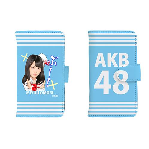 AKB48 45thシングル選抜総選挙 第一党記念 手帳型スマホケース 大森美優Ver.