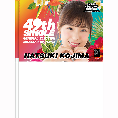 AKB48 49thシングル 選抜総選挙~まずは戦おう!話はそれからだ~ 推しフラッグ 小嶋菜月