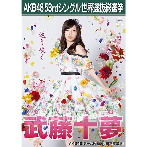 【6月下旬より順次配送】AKB48 53rdシングル 世界選抜総選挙 選挙ポスター 武藤十夢