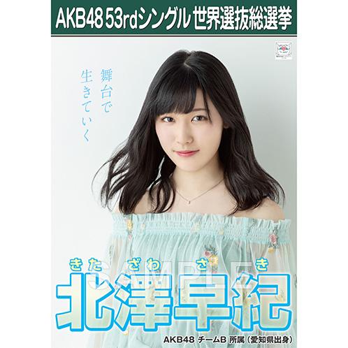 【6月下旬より順次配送】AKB48 53rdシングル 世界選抜総選挙 選挙ポスター 北澤早紀