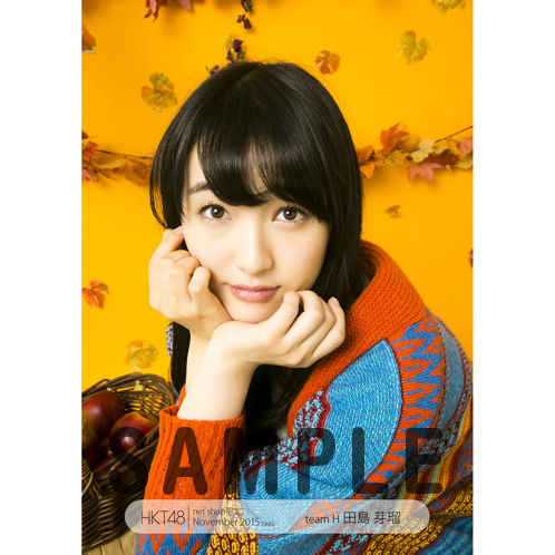 HKT48 2015年11月度net shop限定個別生写真5枚セット 田島芽瑠