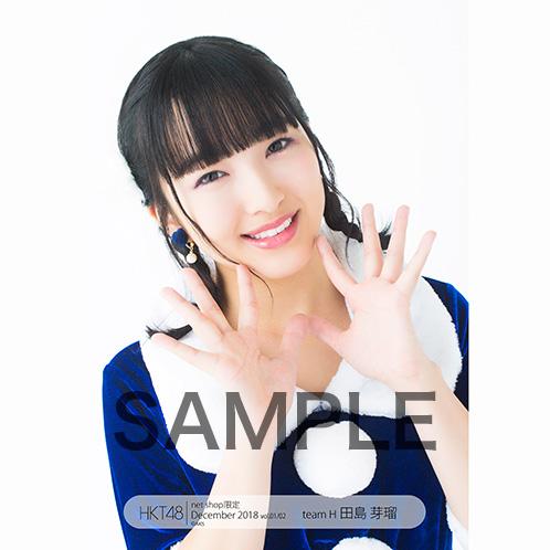 HKT48 2018年12月度 net shop限定個別生写真5枚セットvol.1 田島芽瑠
