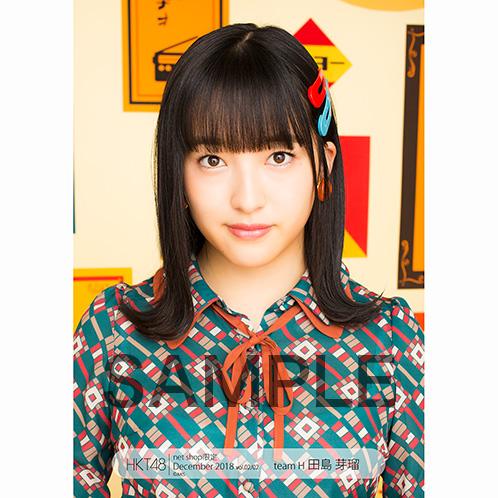 HKT48 2018年12月度 net shop限定個別生写真5枚セットvol.2 田島芽瑠