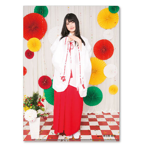 HKT48 2016年5月度個別グッズ「クリアファイル3枚セット 第3弾」 神志那結衣