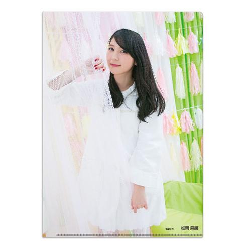 HKT48 2016年8月度個別グッズ「クリアファイル3枚セット 第4弾」 松岡菜摘