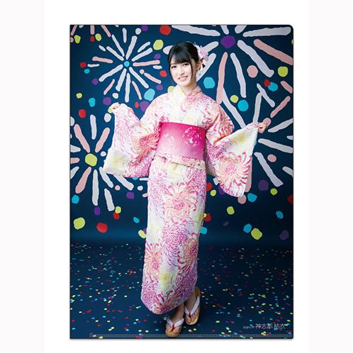 HKT48 2016年12月度個別グッズ「クリアファイル3枚セット 第5弾」 神志那結衣