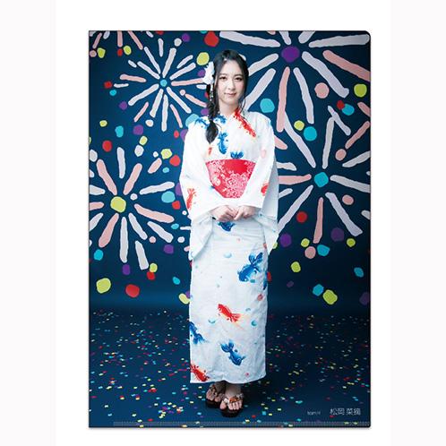 HKT48 2016年12月度個別グッズ「クリアファイル3枚セット 第5弾」 松岡菜摘
