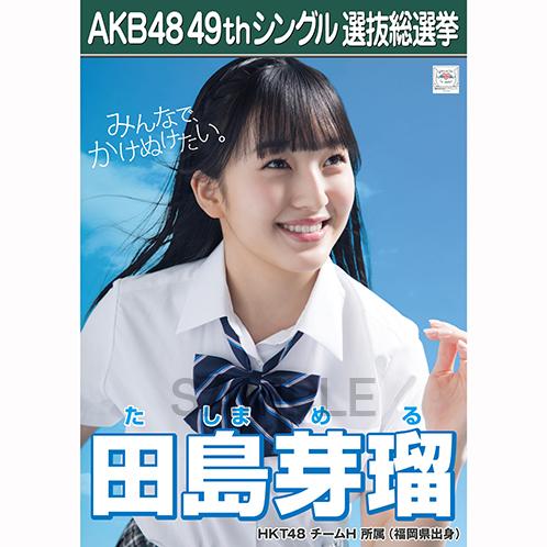 【6月中旬より順次配送】AKB48 49thシングル選抜総選挙 選挙ポスター 田島芽瑠