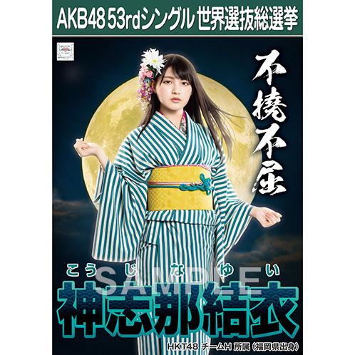【6月下旬より順次配送】AKB48 53rdシングル 世界選抜総選挙 選挙ポスター 神志那結衣