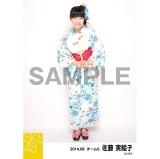 SKE48 2014年8月度個別生写真「浴衣」5枚セット 佐藤実絵子