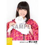 SKE48 2015年6月度個別生写真「レインコート」5枚セット 野口由芽