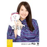 SKE48 2015年6月度個別生写真「レインコート」5枚セット 内山命