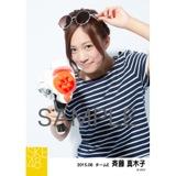 SKE48 2015年8月度個別生写真「夏服」5枚セット 斉藤真木子