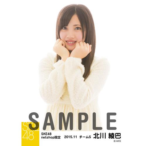 SKE48 2015年11月度net shop限定個別生写真 5枚セット 北川綾巴