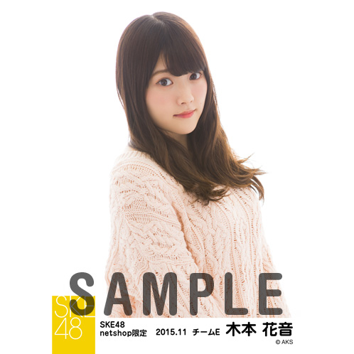 SKE48 2015年11月度net shop限定個別生写真 5枚セット 木本花音