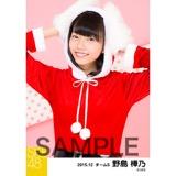 SKE48 2015年12月度個別生写真「クリスマス」5枚セット 野島樺乃