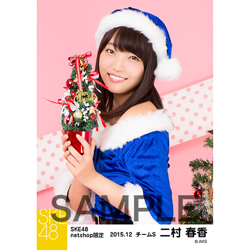 SKE48 2015年12月度net shop限定個別生写真 5枚セット 二村春香