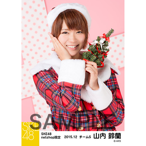 SKE48 2015年12月度net shop限定個別生写真 5枚セット 山内鈴蘭