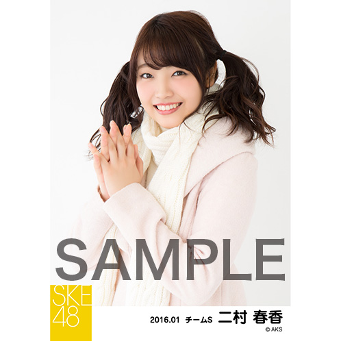 SKE48 2016年1月度個別生写真「冬服」5枚セット 二村春香