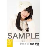 SKE48 2016年1月度個別生写真「冬服」5枚セット 白井琴望