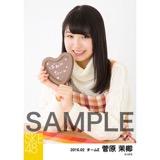 SKE48 2016年2月度個別生写真「バレンタイン」5枚セット 菅原茉椰