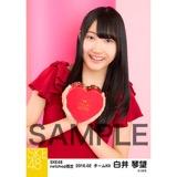 SKE48 2016年2月度 net shop限定個別生写真「バレンタインII」5枚セット 白井琴望